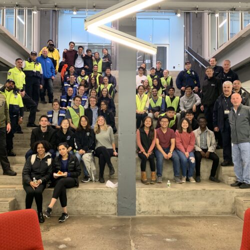 MERT members pose with Penn Administrators and Public Safety personnel at the 2019 MCI Drill.