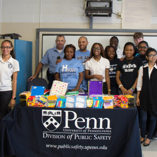 Donation of supplies to Robeson School