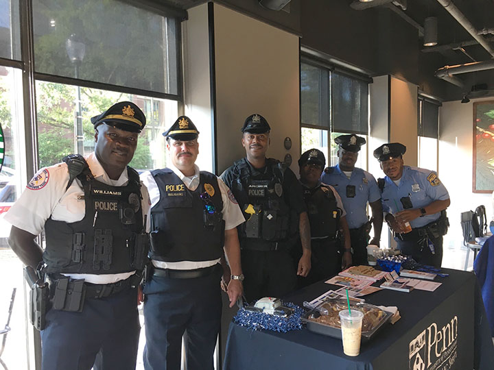 Police officers at Coffee with a Cop day