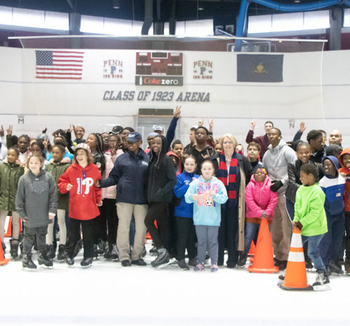 Pal day at the Penn Ice Rink