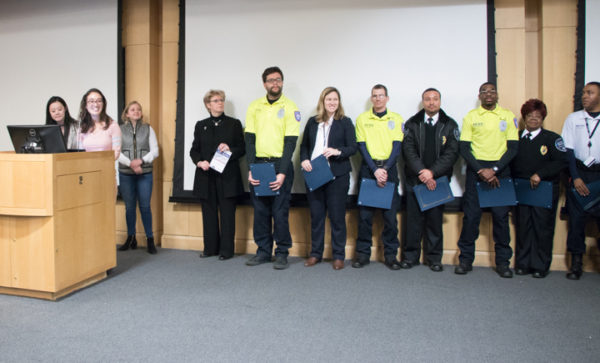 UA and GAPSA representatives honor Public Safety team members.