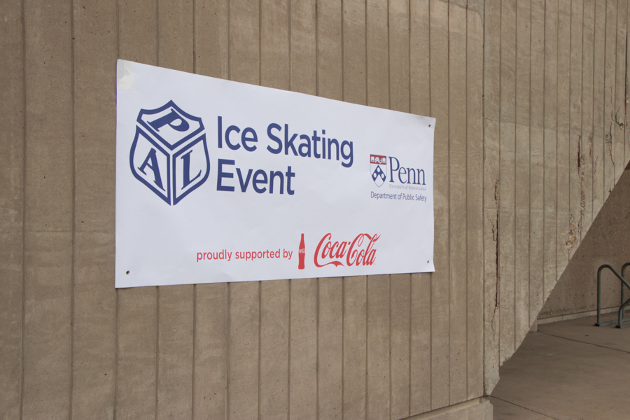 Event sign- PAL DAY AT THE PENN ICE RINK
