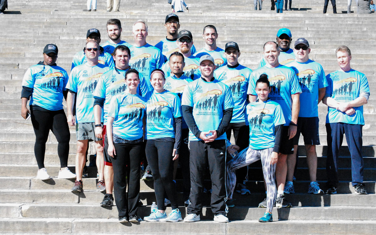 Members of DPS who participated in the torch run